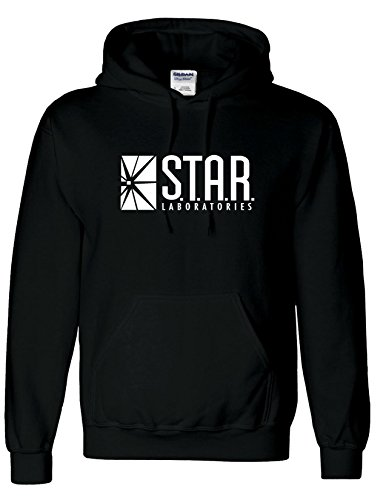 Inspired STAR Laboratories Hoodie-The Flash TV Series S.T.A.R.Labs Hoody Top (XLARGE, BLACK) from AMBRAT