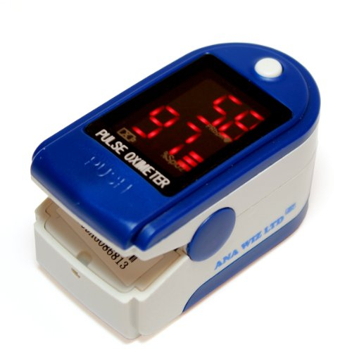 Finger Pulse Oximeter With LED Display (Includes Carrycase, Batteries and Lanyard) from ANAPULSE