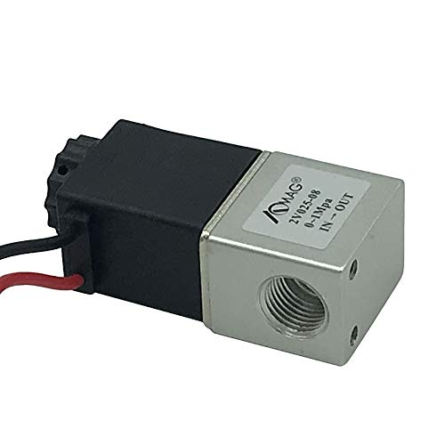 AOMAG® 1/4 inch DC 12V 2 Way Normally Closed Pneumatic Aluminum Electric Solenoid Air Valve from AOMAG