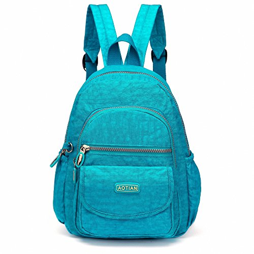 AOTIAN Mini Nylon Casual Lightweight Women and Girls Small Backpacks Purse Daypack Very Handy Bag for Traveling Outing Hiking, Wake Blue 7L from AOTIAN