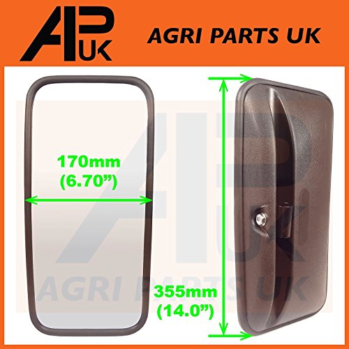 APUK NEW Universal Mirror Head + Glass Tractor Lorry Digger Truck Plant JCB Bus Wing from APUK