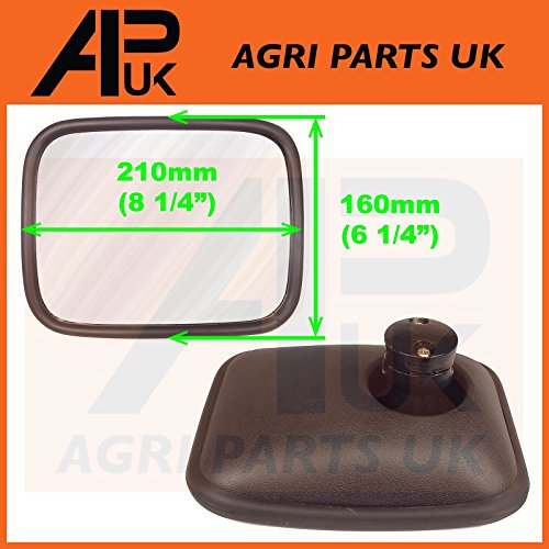 Wide Angle Blind Spot Mirror Head Truck Lorry Tractor Caravan Van Bus Towing etc from APUK