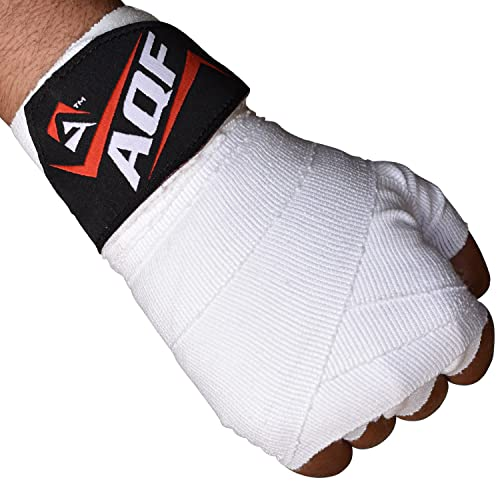 AQF Boxing Hand Wraps Bandages Boxing Inner Gloves Muay Thai MMA UFC (White) from AQF