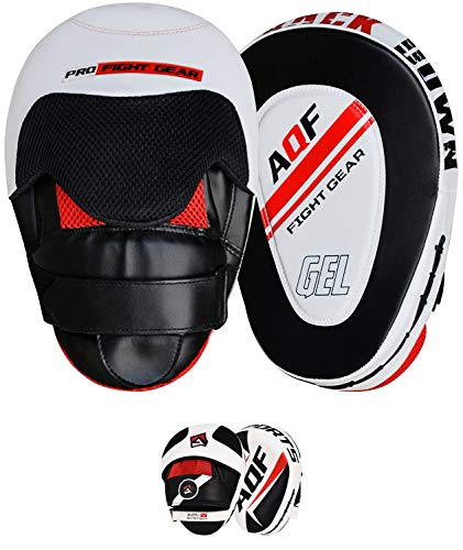 AQF Focus Pads Rex Leather,Hook and Jab Mitts,MMA Kick Boxing Muay Thai Sparring from AQF