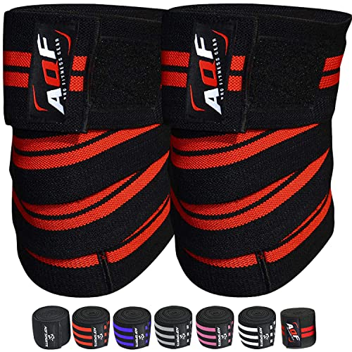 AQF Knee Wraps Weight Lifting Bandage Straps Guard Pads Powerlifting from AQF