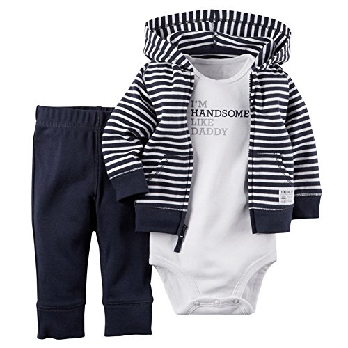 ARAUS Baby Long Sleeve Hoodie + Bodysuit + Pants Trousers Newborn Girl Boy Autumn Winter Clothes Outfits 0-24 Months from ARAUS