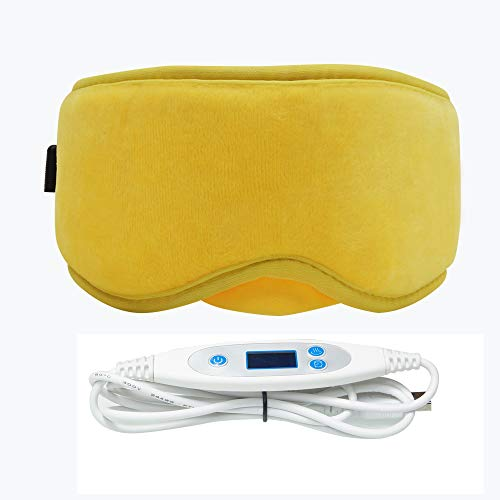 ARRIS Electric USB Heated Eye Mask, Blepharitis Treatment Eye Masks W/ 5 Temperature Control Warm Therapeutic for Relieving Insomnia, Meibomian Gland Disease Yellow from ARRIS