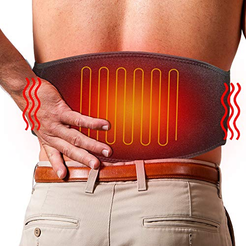 ARRIS Electric Heating Waist Belt Wrap, Lower Back Heat Belts & Lumbar Therapy Heating Pads for Pain Relief of Stomach Muscle Abdominal, Suitable for Men Women from ARRIS