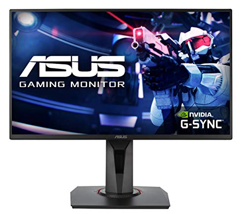 ASUS VG258QR 25 Inch (24.5 Inch) FHD (1920 x 1080) Esports Gaming Monitor, 0.5 ms, Up to 165 Hz, DP, HDMI, DVI-D, Super Narrow Bezel, FreeSync, Low Blue Light, Flicker Free from ASUS