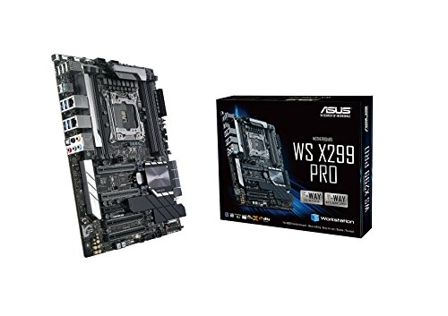 ASUS WS X299 PRO 2066 Intel X299 DDR4 S-ATA 600 ATX Workstation Socket - Black from ASUS