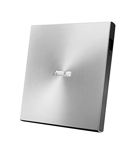 ASUS ZenDrive U9M Silver - USB 2.0/USB-C Slim External DVD Burner Optical Disc 8x Speed Re-Writer Drive with M-Disc Support, USB 2.0 Type-A/Type-C Compatibility, Mac/Windows OS Compatible from ASUS