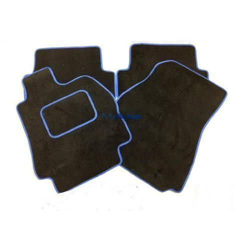 OCTAVIA VRS (05-) BLACK CARPET MATS + SONIC BLUE EDGING from AUTOMOTIQ