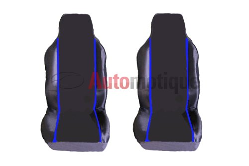 NV200 (0+) (X CLIP) PREMIUM BLACK SEAT COVERS BLUE PIPING 1-1 from Automotique