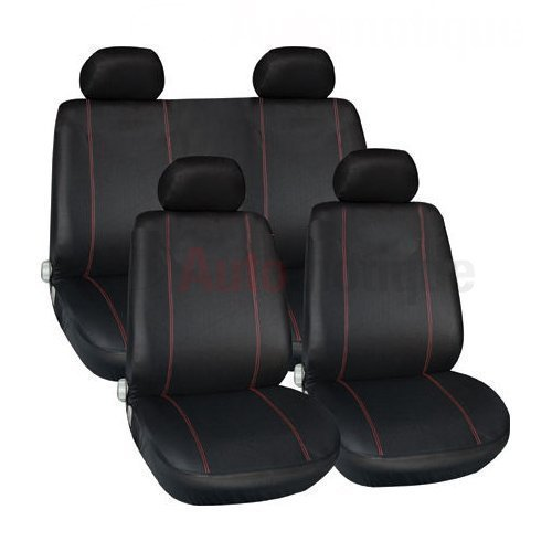 PREMIUM FULL CAR SEAT COVER SET RED PIPING from Automotique