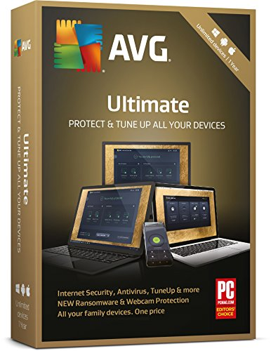 AVG Ultimate 2018 - 1 Year Unlimited Devices (PC/Mac/Android) from AVG Technologies Ltd. UK