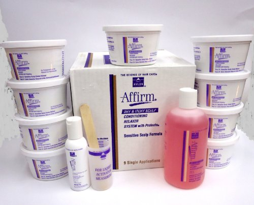 AFFIRM DRY & ITCHY SCALP RELAXER SYSTEM 9 APPLICATIONS from AVLON AFFIRM