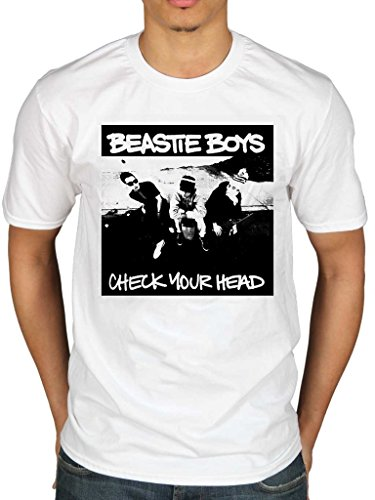 Official Beastie Boys Check Your Head T-Shirt Hip Hop Rap Rock Band White from AWDIP