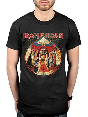 Official Iron Maiden Powerslave ning Circle T-Shirt, Black, XXL from AWDIP