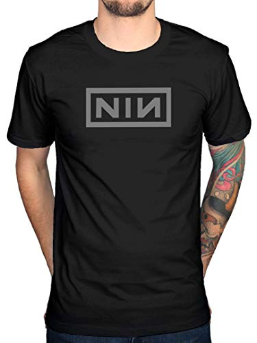 Official Nine Inch Nails Classic Grey Logo T-Shirt, S, Black from AWDIP