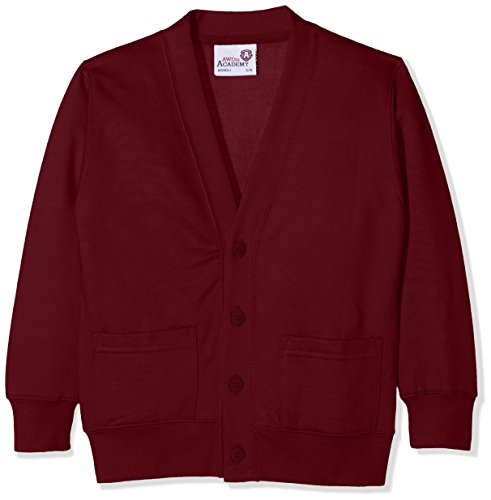 AWDis Boy's Kids Academy Cardigan School Top, Red (Academy Burgundy), 7-8 Years (Manufacturer Size:Medium) from AWDis