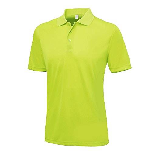 AWDis Just Cool Mens Smooth Short Sleeve Polo Shirt (S) (Lime) from AWDis