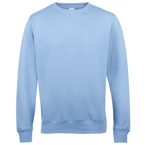 AWDis Just Hoods AWDis Unisex Crew Neck Plain Sweatshirt (280 GSM) (S) (Sky Blue) from AWDis