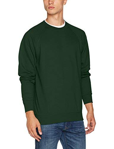 AWDis Men's Academy Raglan Sweatshirt, Green (Academy Green), X-Large from AWDis