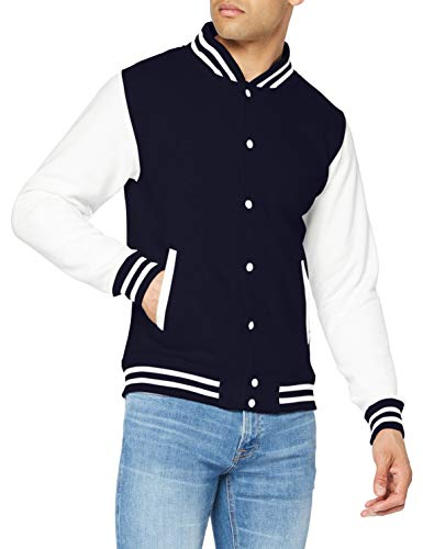AWDis JH043MOXN / BURM, Men's Jacket, Blue (Oxford Navy/White), Small from AWDis