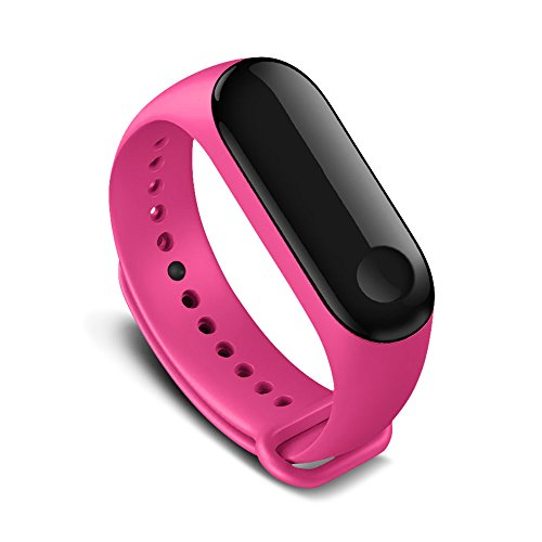 AWINNER Colorful Waterproof Replacement Bands for Xiaomi Mi Band 3 Smart Miband 3nd (No Activity Tracker) (Pink) from AWINNER