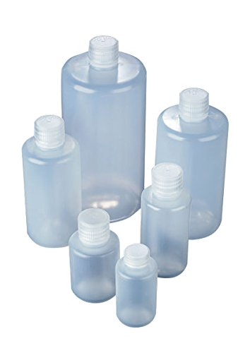 AZLON BNL0500P Plastic, Bottle with Narrow Neck, Polypropylene Screw Caps, LDPE, 500 ml (Pack of 10) from AZLON