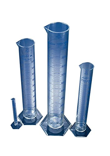 AZLON CTB0025P Plastic, Blue, Cylinder Spouted Grads, PMP, 25 ml (Pack of 5) from AZLON