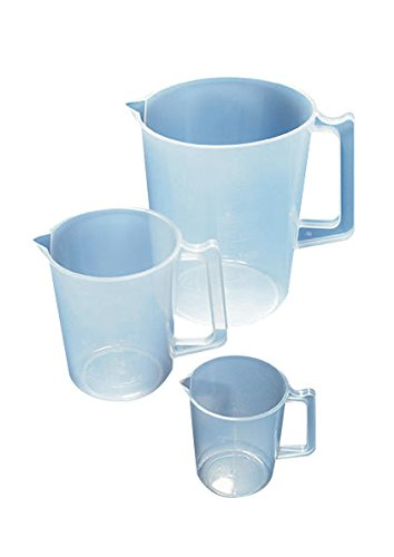 AZLON JPM0250P Plastic, Clear, Beakers with Handles, Graduation, 250 ml from AZLON