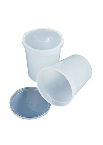AZLON JWH1000P Plastic, Container 1000 ml + Push-On Cap HDPE (Pack of 100) from AZLON
