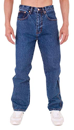 MENS AZTEC BASIC STRAIGHT LEG REGULAR FIT JEANS by AZTEC JEANS 46 Regular Stonewash from AZTEC JEANS