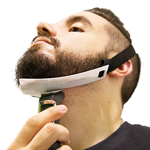 Aberlite Beard Shaping Tool - FlexShaper Neckline Shaper - Hands-Free & Flexible - The Ultimate Neckline Beard Shaping Template (White) - Beard Trimmer Guide - Lineup Stencil Kit from Aberlite