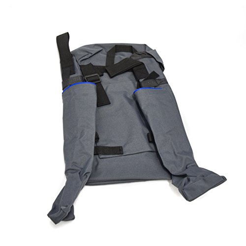 Ability Superstore Wheelchair Bag with Side Crutch Pockets - Grey/Blue from Ability Supestore