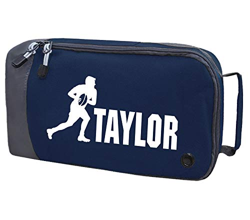 Absolutely Top Childrens Personalised Rugby Boot Bag (Midnight Navy/Frosty White Print) from Absolutely Top
