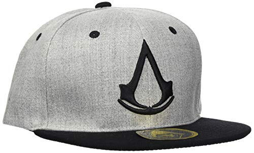 ABYstyle Abysse Corp_ABYCAP015 Assassin's Creed Origins - Casquette Snapback - Noir Et Gris Cap-Grey-Crest, Multi Colour, One Size from ABYstyle