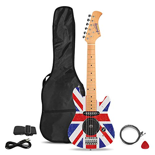 Academy of Music TY6016C Kids Electric Guitar Starter Set for Beginners with Built-in Amp and Accessories, Union Jack from Academy of Music