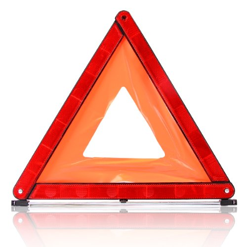 Warning Triangle - Red Travel Fold Up Safety Triangle In Case from Accenter