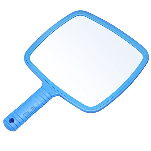 Accessotech Professional Handheld Salon Barbers Hairdressers Paddle Mirror Tool with Handle (Blue) from Accessotech