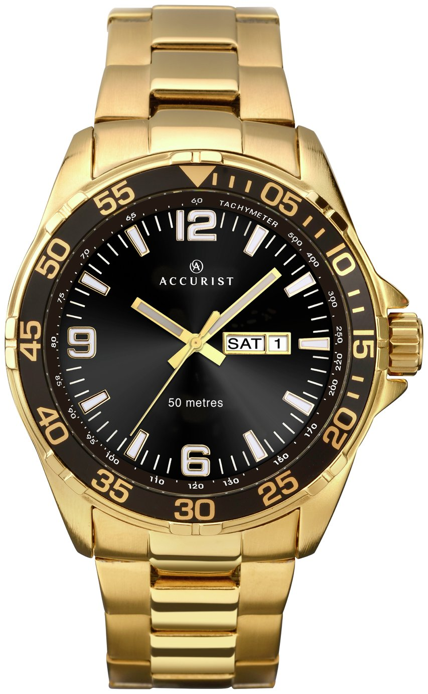 Accurist - Mens Gold Plated Sports - Watch from Accurist