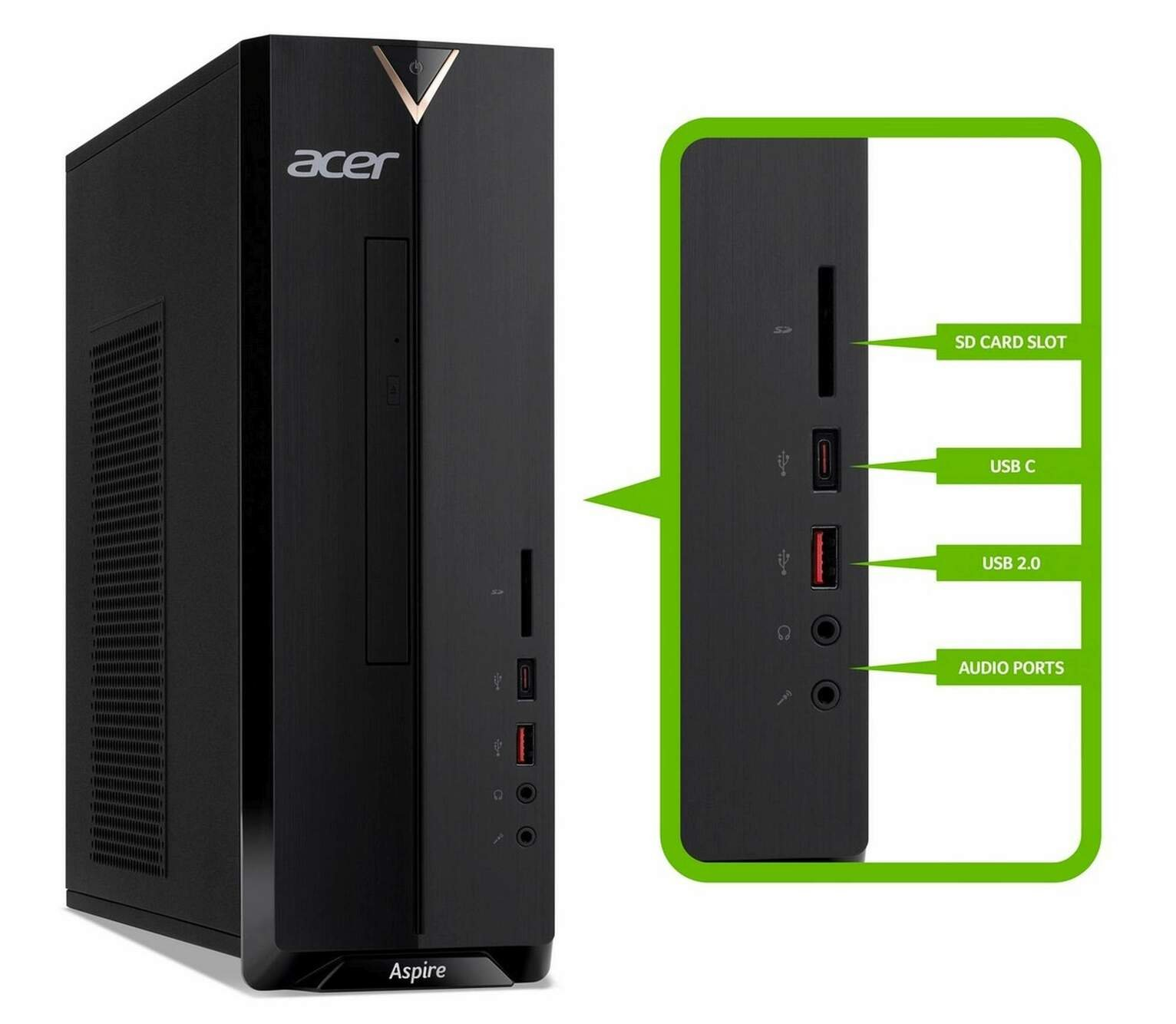Acer Aspire XC-330 AMD A9 8GB 1TB Desktop PC from Acer