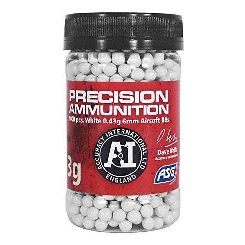 ASG Precision Ammunition .43g 6mm BBs, 1000 pcs. from Action Sport Games