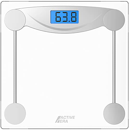 Active Era® Ultra Slim Digital Bathroom Scales with High Precision Sensors and Tempered Glass (Stone/kgs/lbs) from Active Era