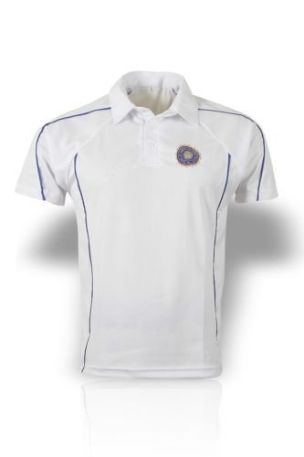 CRICKET SHIRT WITH INDIA LOGO MEDIUM 38-40CM from ADAM SPORTS SHOP