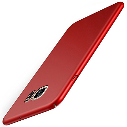 Samsung Galaxy S7 Case Adamark Slim Fit PC Shell Bumper Anti-Scratch Thin Hard Cover Shockproof Protective Case For Samsung Galaxy S7 (red) from Adamark