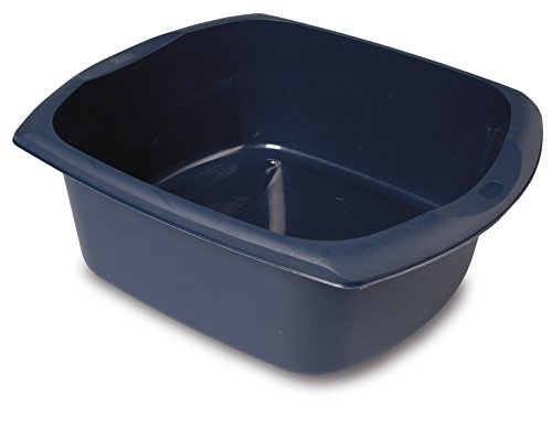 Addis Large Rectangular Washing Up Bowl 9.5 litre Ink Blue, 38 x 32 x 14 cm from Addis