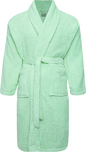 Adore Home 100% Cotton Terry Towelling Shawl Collar Lime Green ...