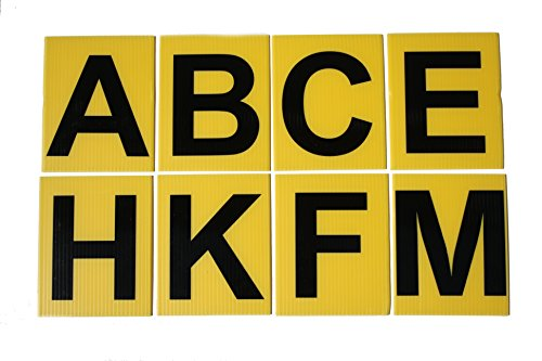 8 Large Dressage Arena Markers - Black on Yellow - ABCE FHKM from Advanced Printing